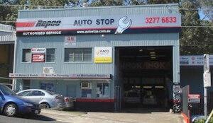 Auto Stop Auto Service Salisbury shop front