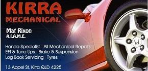 Kirra Mechanical business card