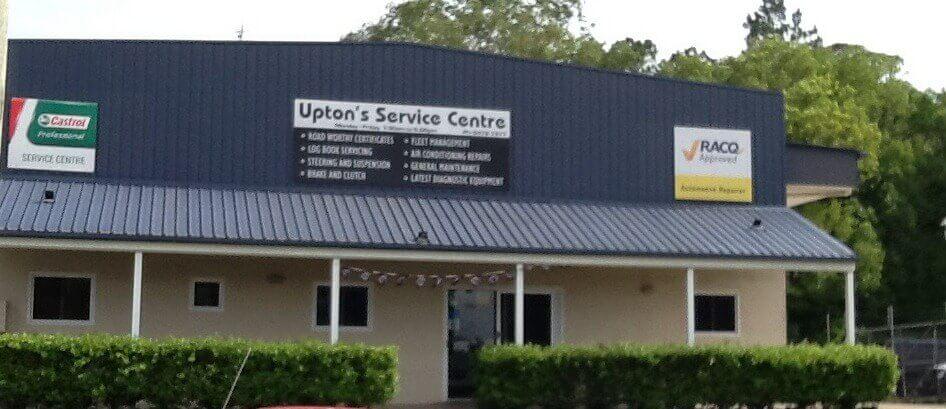 Upton's Service Centre shop front