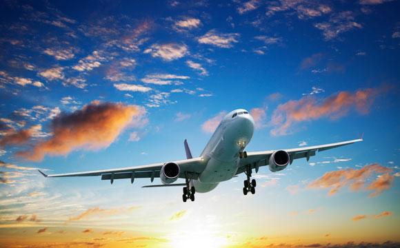 Jet plane in sky