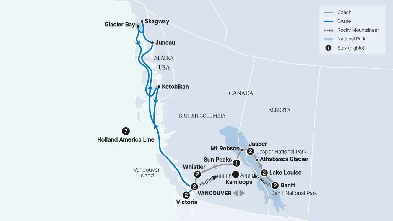 Rockies Odyssey and Alaska Cruise