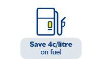 Save 4c/litre on fuel