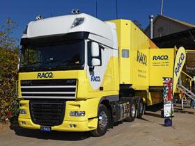Exterior of RACQ Mobile Member Centre truck
