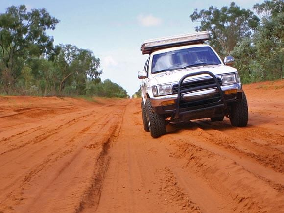 4wd on outback dirt road