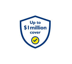 Up to $1mil cover icon
