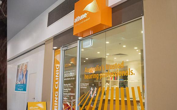 Attune Hearing storefront