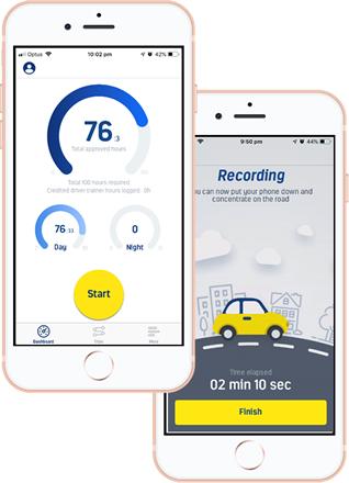 Learner driver app phones
