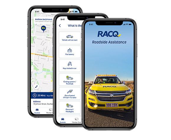 Roadside App screen