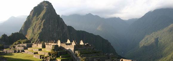 Ancient ruins at Macchu Picchu, Peru