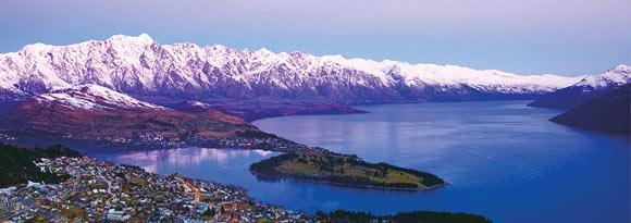 Looking down over Queenstown, New Zealand
