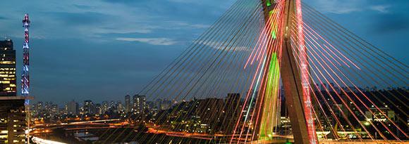 Octávio Frias de Oliveira Bridge, São Paulo, Brazil over the Pinheiros River