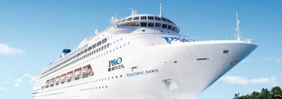 P&O cruise ship up close