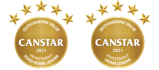 Canstar Outstanding Value Fixed Rate and Investment Home Lender 2021