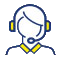Icon Woman with Headset