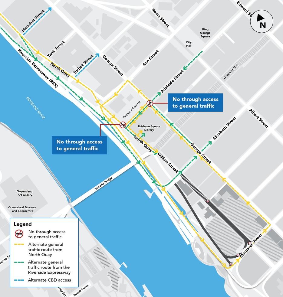 Drivers warned of permanent Brisbane CBD road closures